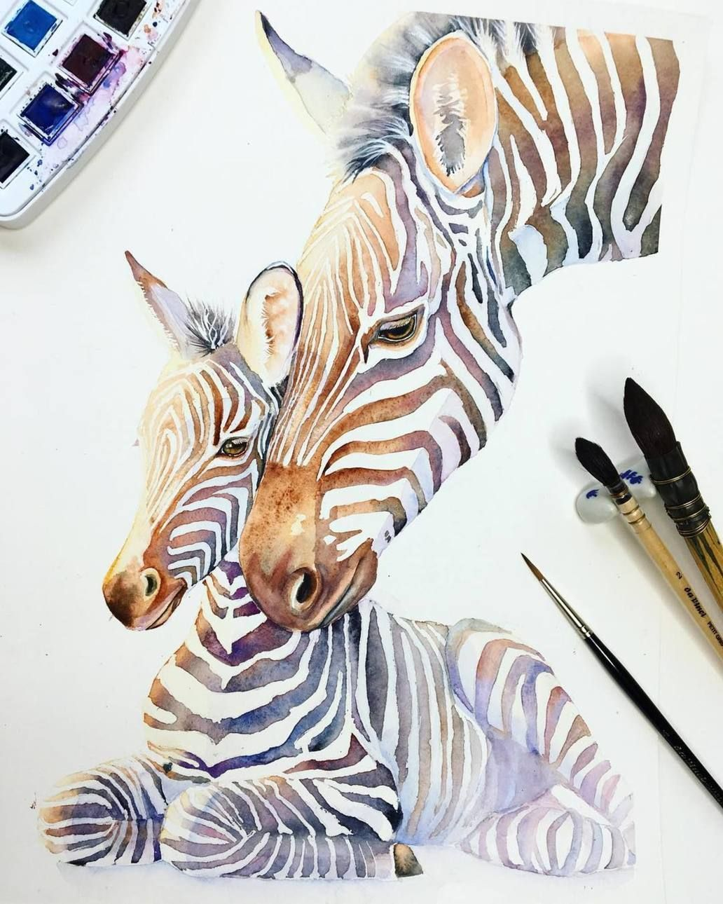 Image May Contain Stripes Zebra Art Zebra Painting Watercolor