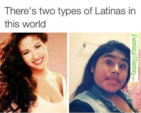 Funny Meme Types : Funniest memes [there's two types of latinas in the world
