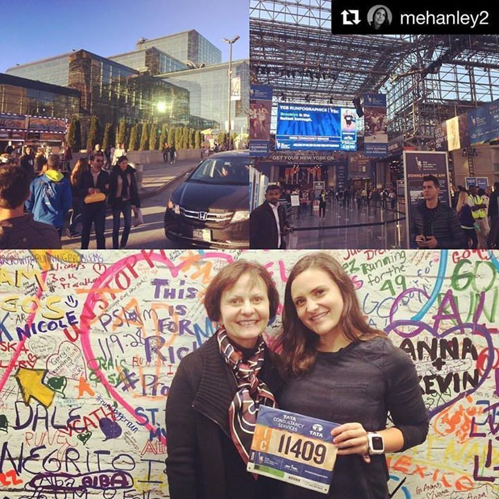 GOOD LUCK TO OUR VERY OWN @MEHANLEY2!!!  #tcsnycmarathon #nycmarathon #nycmarathon2016 #roadtoboston