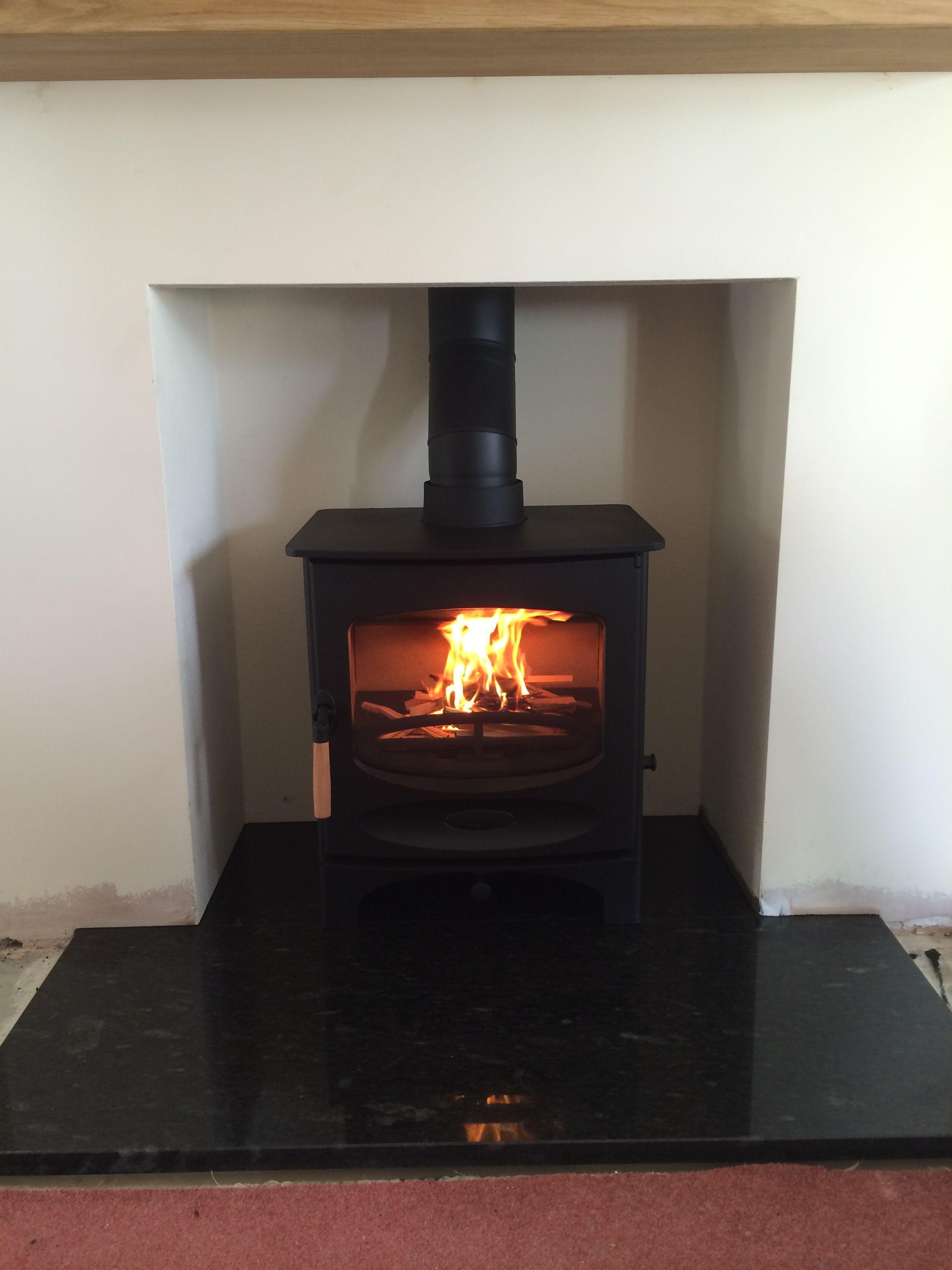 charnwood c5 multifuel stove black granite hearth woodburners