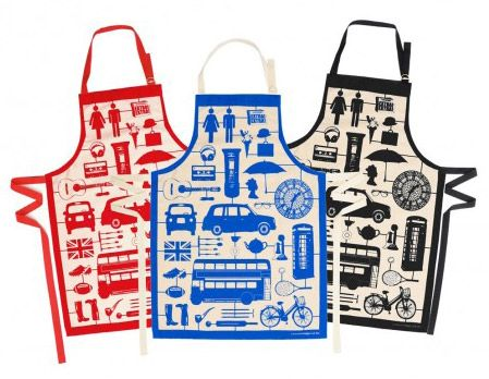 She's created a range of playful, contemporary designed products aimed at bringing a smile to your face.   Her work celebrates a love for all things British which is evident in her 'English Dinner,' 'London Bus' and 'London Tube' designs.  Victoria makes bold, colourful home accessories including aprons, tea towels, oven mitts and mugs.  Her collections also include screen prints, bags and T-shirts.  The British theme is followed through to manufacturing where she strives to support the…