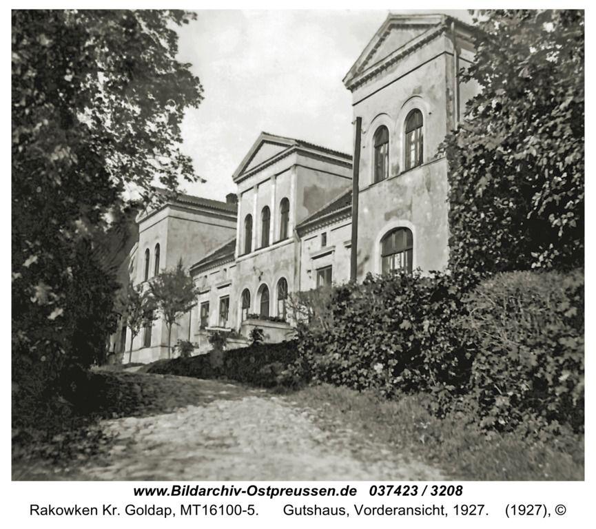 Rakowken, Gutshaus, Vorderansicht, 1927