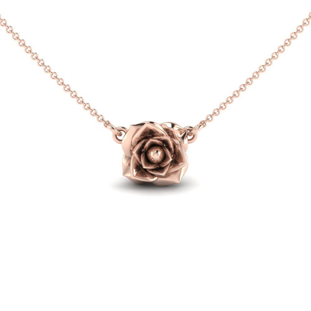Rose necklace rose necklace feminine and delicate rose necklace mozeypictures Gallery