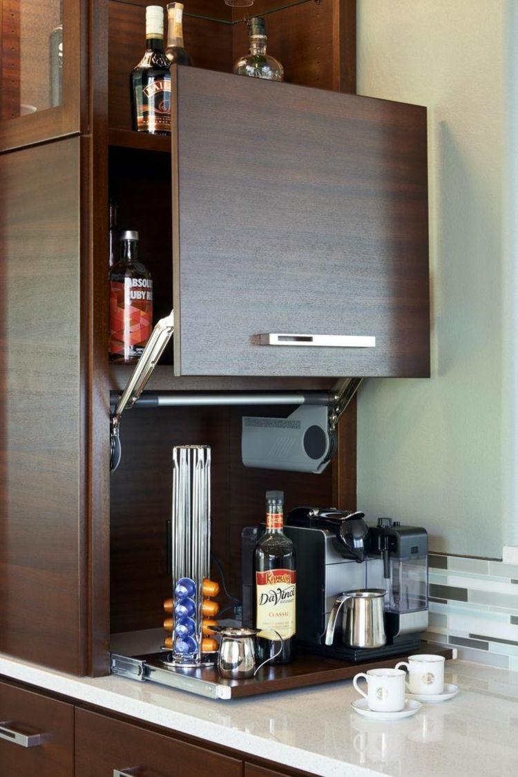 Elektrogeräte auf einer Platte zu Ausziehen verstauen   Moderne  küchenideen, Moderne küche, Küchentrends