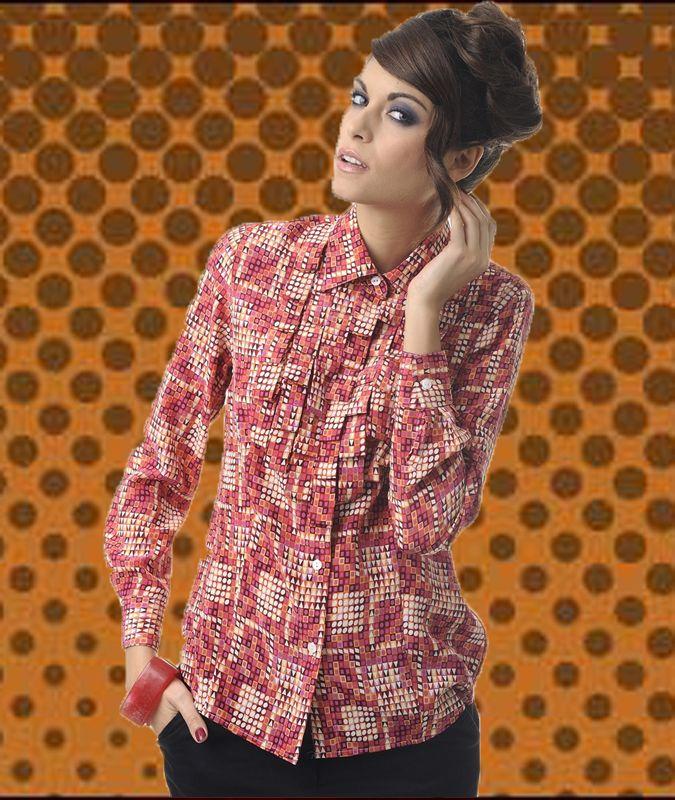 Marigold, Camicia in crepe de chine di pura seta.