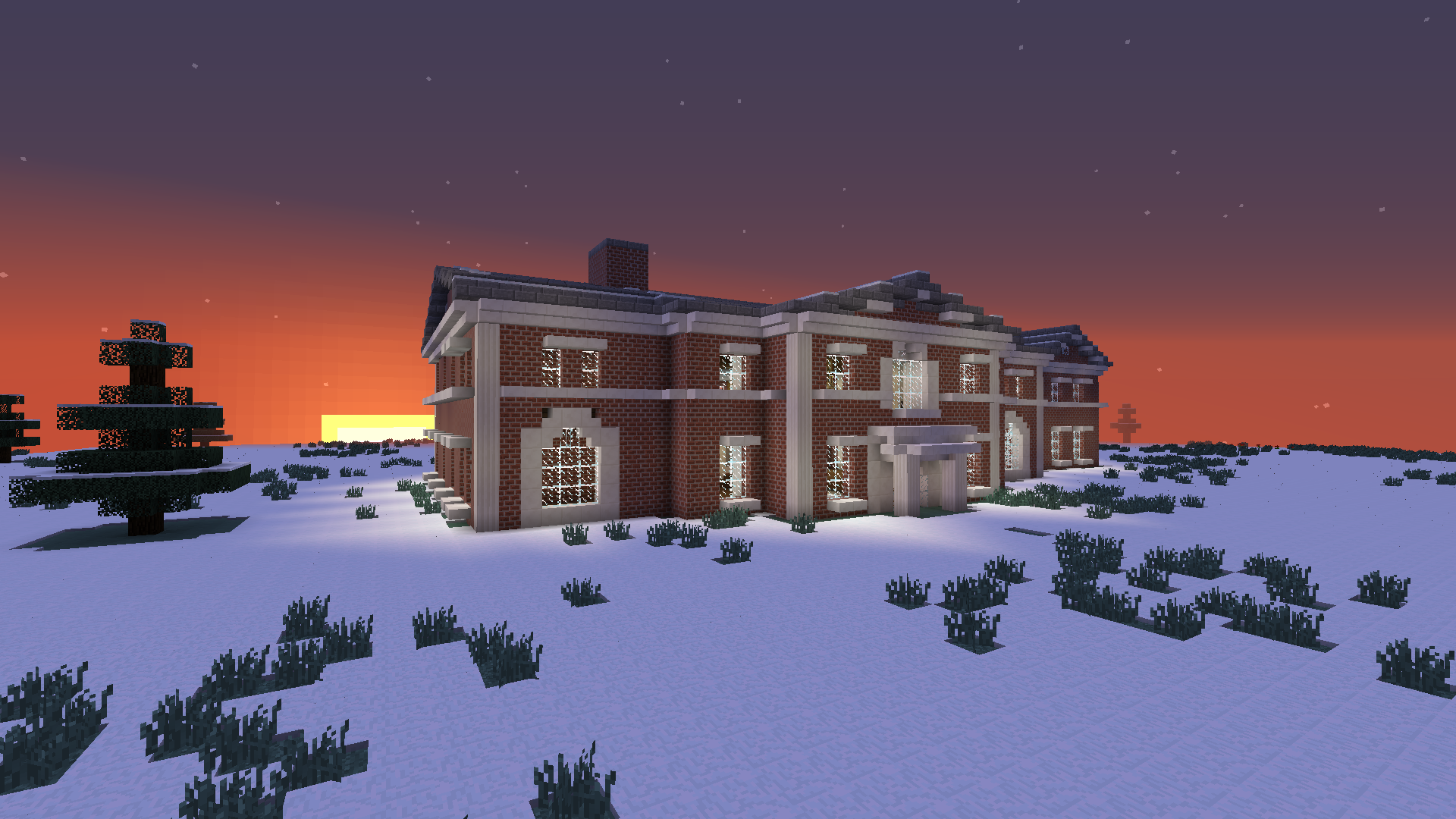 A View Of The Mansion I Built In Minecraft Mansions Minecraft Buildings House Styles