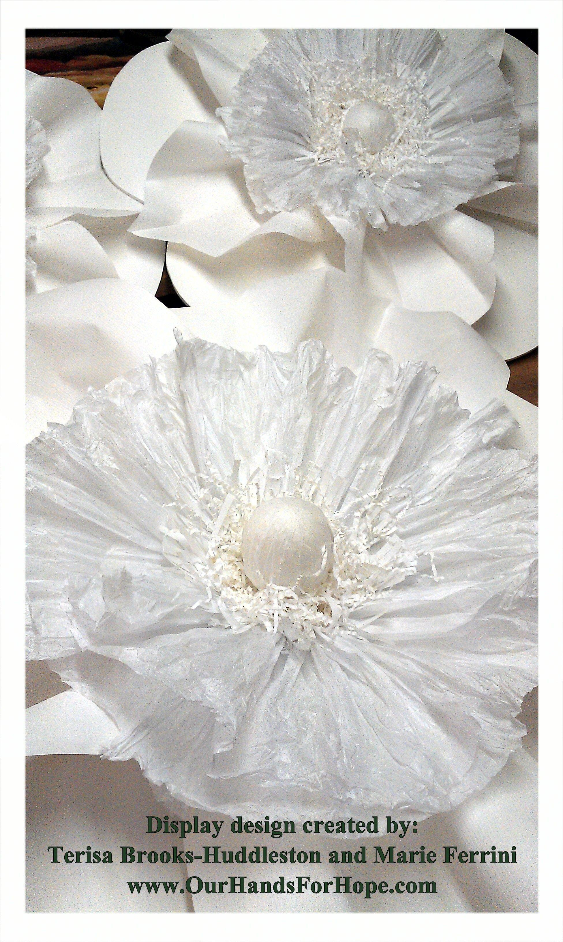 Large Paper Flowers Wedding Decorations Retail Display Window