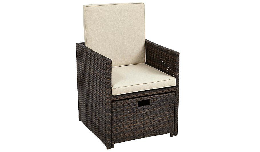 99 Buy Borneo Cube Patio Dining Chair & Ottoman from our ...