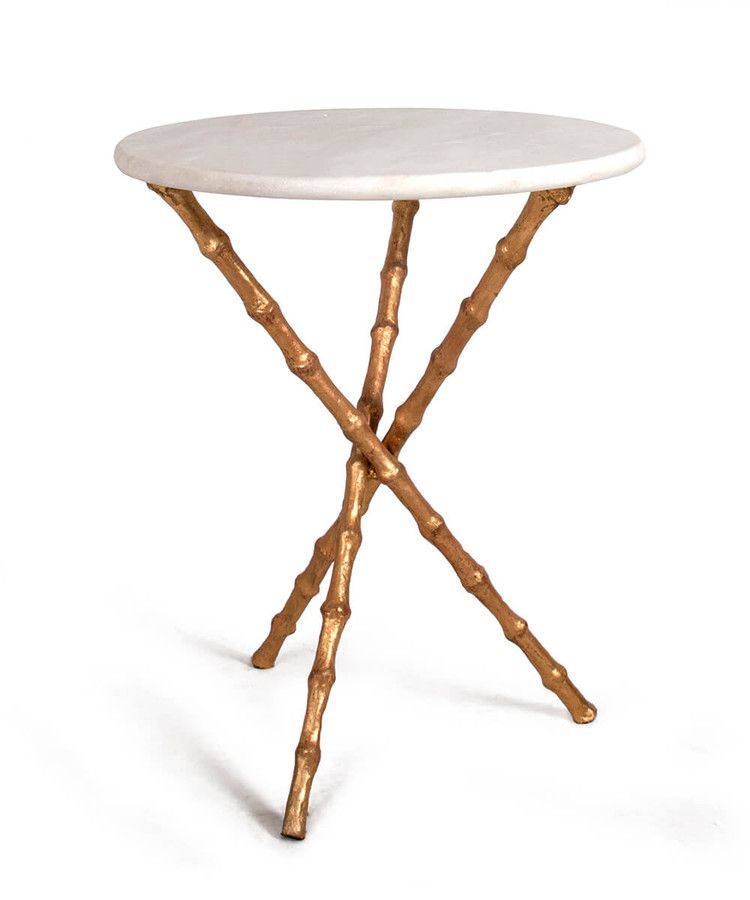 Bamboo Table White Stone Top Bamboo Table Bliss Home And