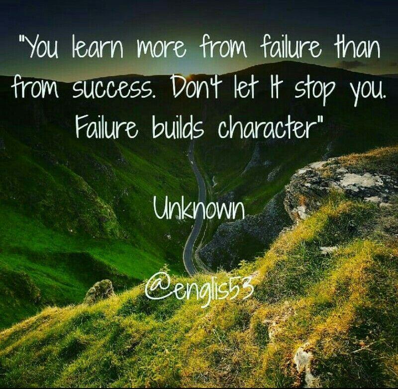 Você Aprende Mais Com Falhas Do Que Com Sucesso. Não Deixe