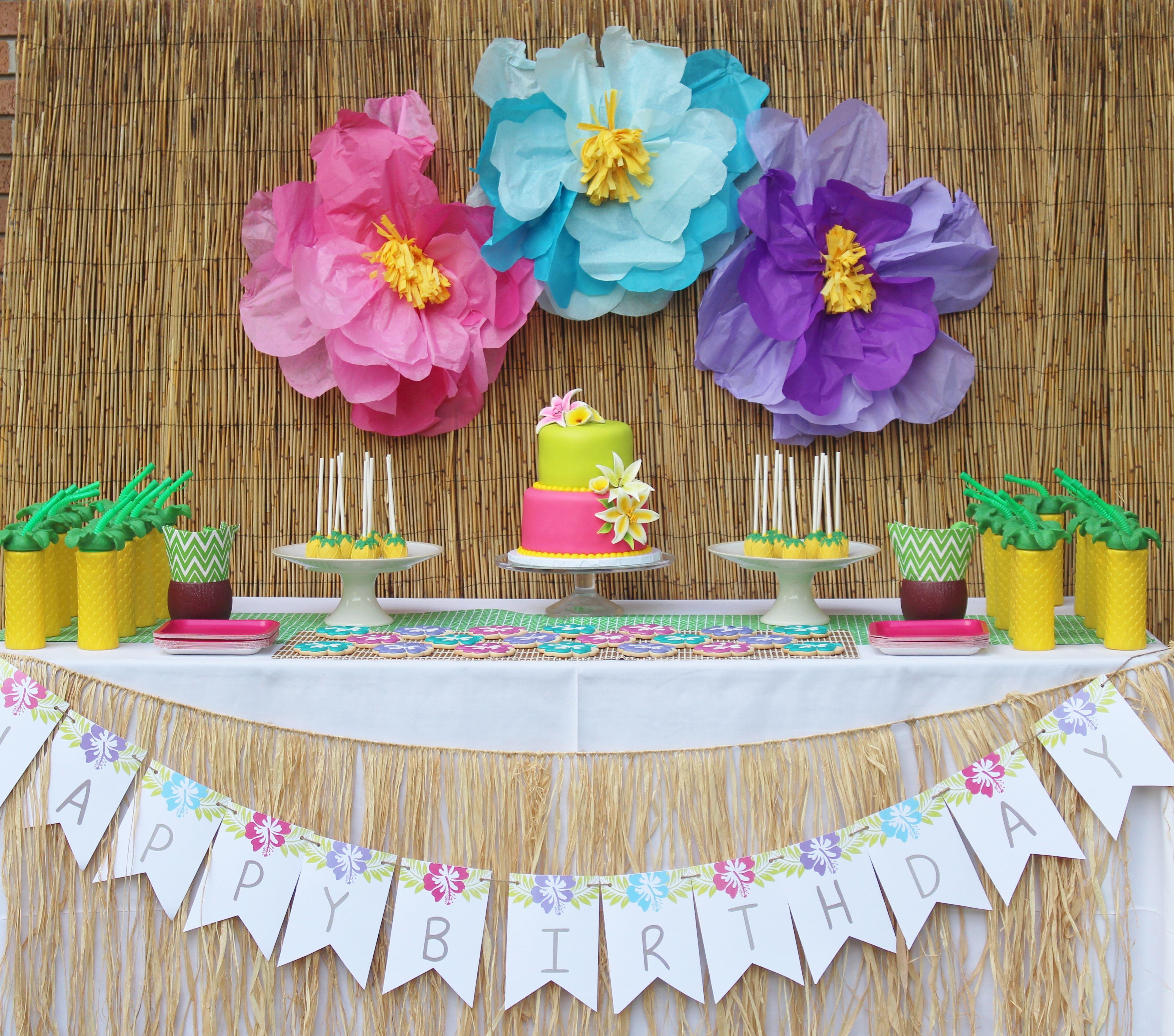 Hawaiian Party Ideas Julieta S 2nd Birthday