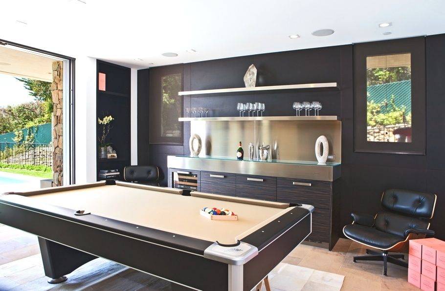 Great Contemporary Man Cave With Pool Table By Lang Lequang Game Room Design Home Game Room