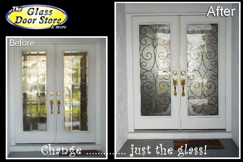 White Wrought Iron Double Front Doors Sealed Units Make