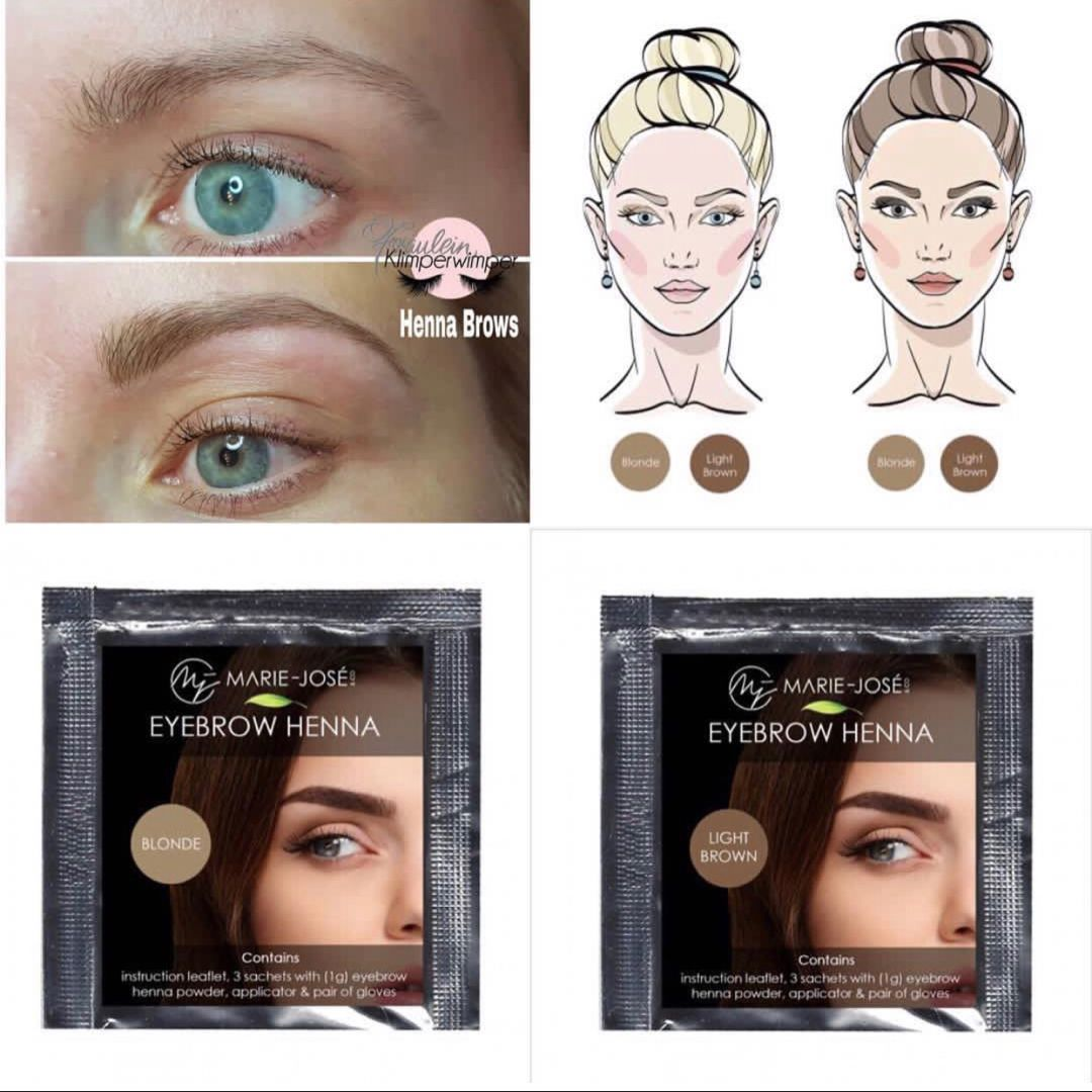 Blonde Augenbrauen Blond Brows - Henna Brows - Brow Henna ...