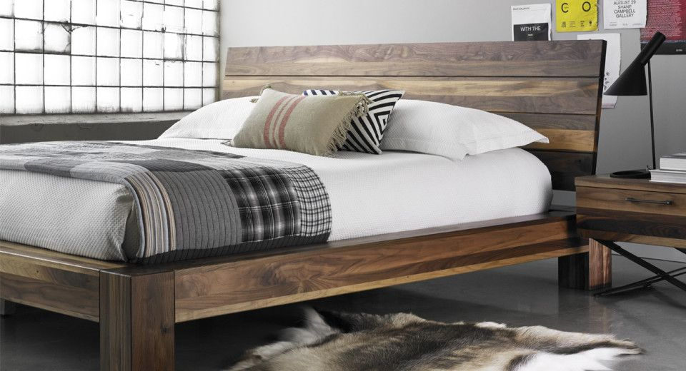Solid Walnut Several Products Available In This Collection Made In Quebec Home Decor Home Bed