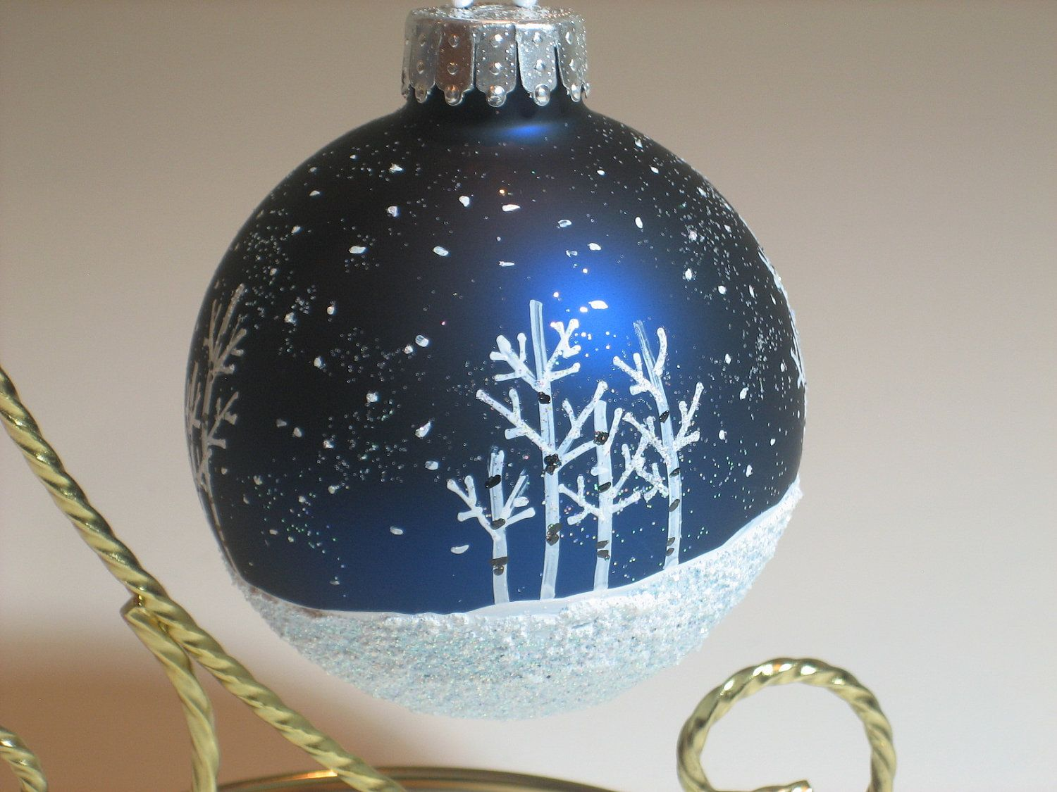 Hand Painted Glass Christmas Ball Ornament Painted Christmas Ornaments Christmas Ornaments Christmas Crafts For Gifts
