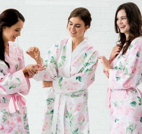 Personalized Silky Kimono Robes $29.95