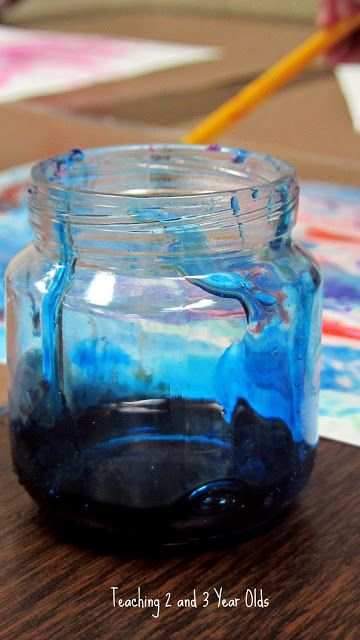 Corn Syrup Painting #creativeartsfor2-3yearolds