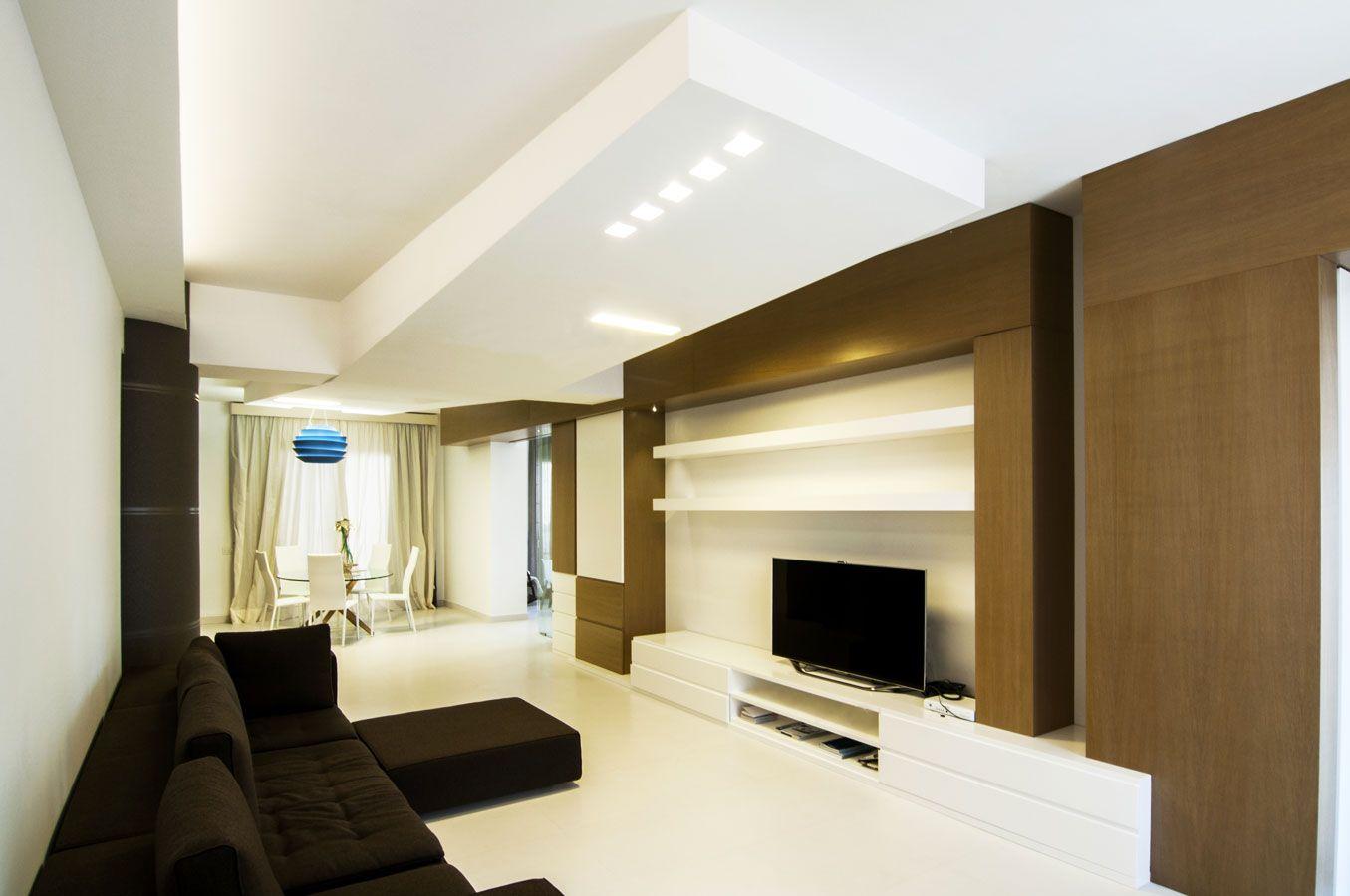 DORIArchitetti #divano #bianco #luce #legno #tv #soggiorno ...
