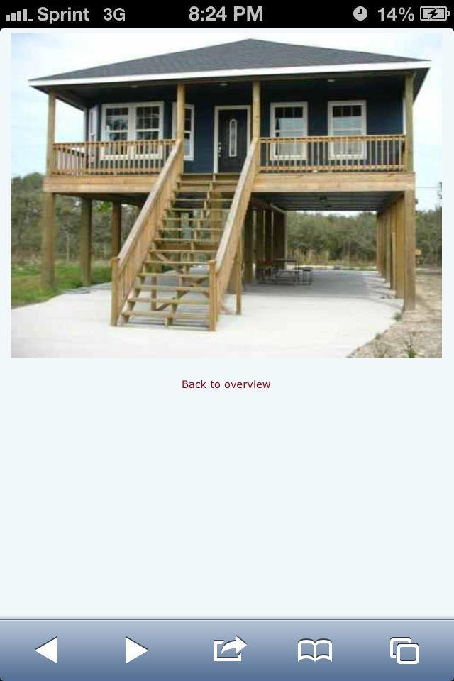 House on stilts modular homes on stilts pinterest for Island house plans on pilings