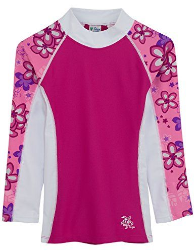 fb0bfe550b Tuga Sunwear Tuga Girls Long Sleeve Rash Guards 1-14 Years