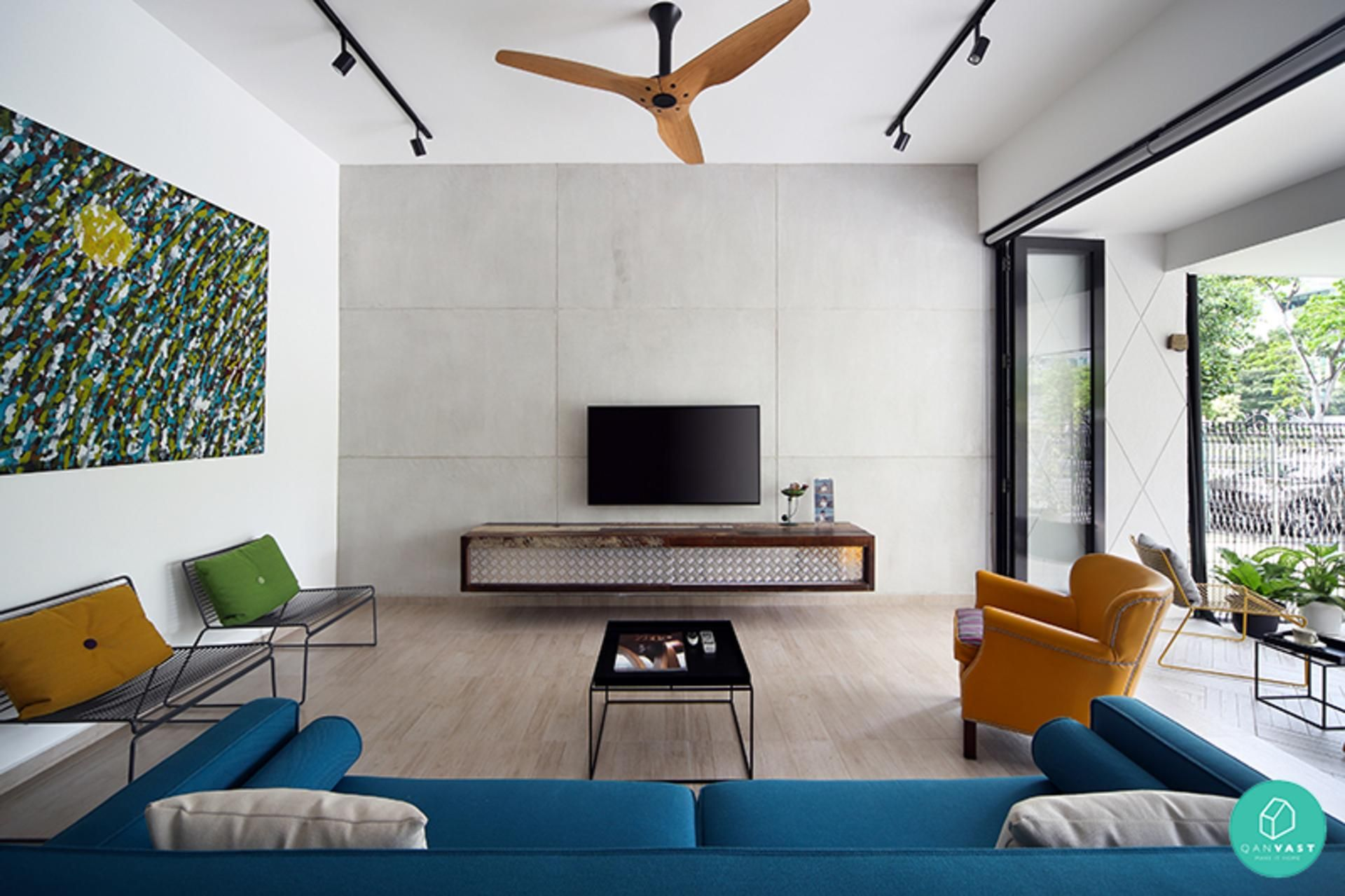 Home interior ceiling design  mindblowing airbnbworthy homes in singapore  interiors