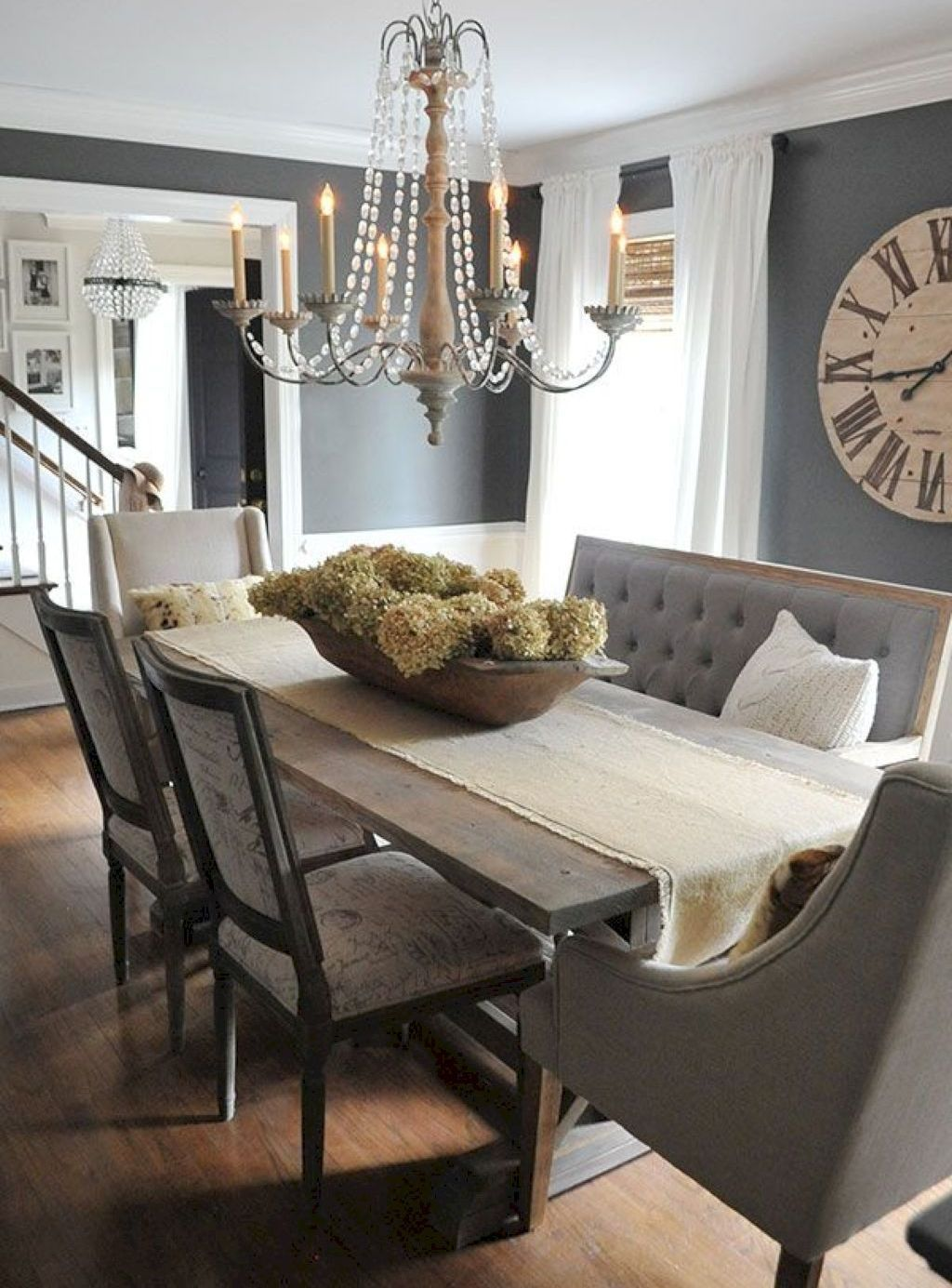 Gorgeous 50 Best Farmhouse Dining Room Decor And Design Ideas Https Homeideas Co 4876 50 Grey Dining Room Modern Farmhouse Dining Farmhouse Dining Room Table