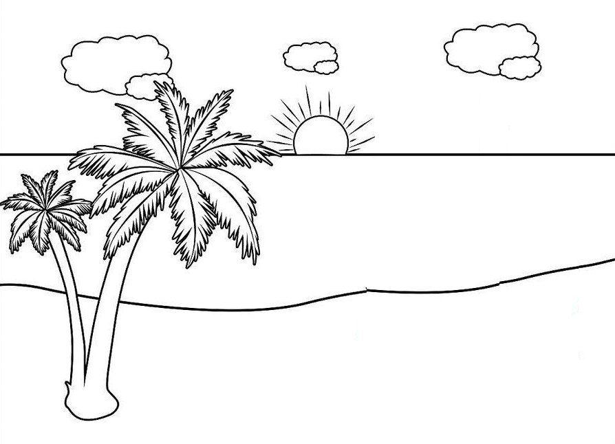 420 Cara Gambar Pemandangan Laut Gratis