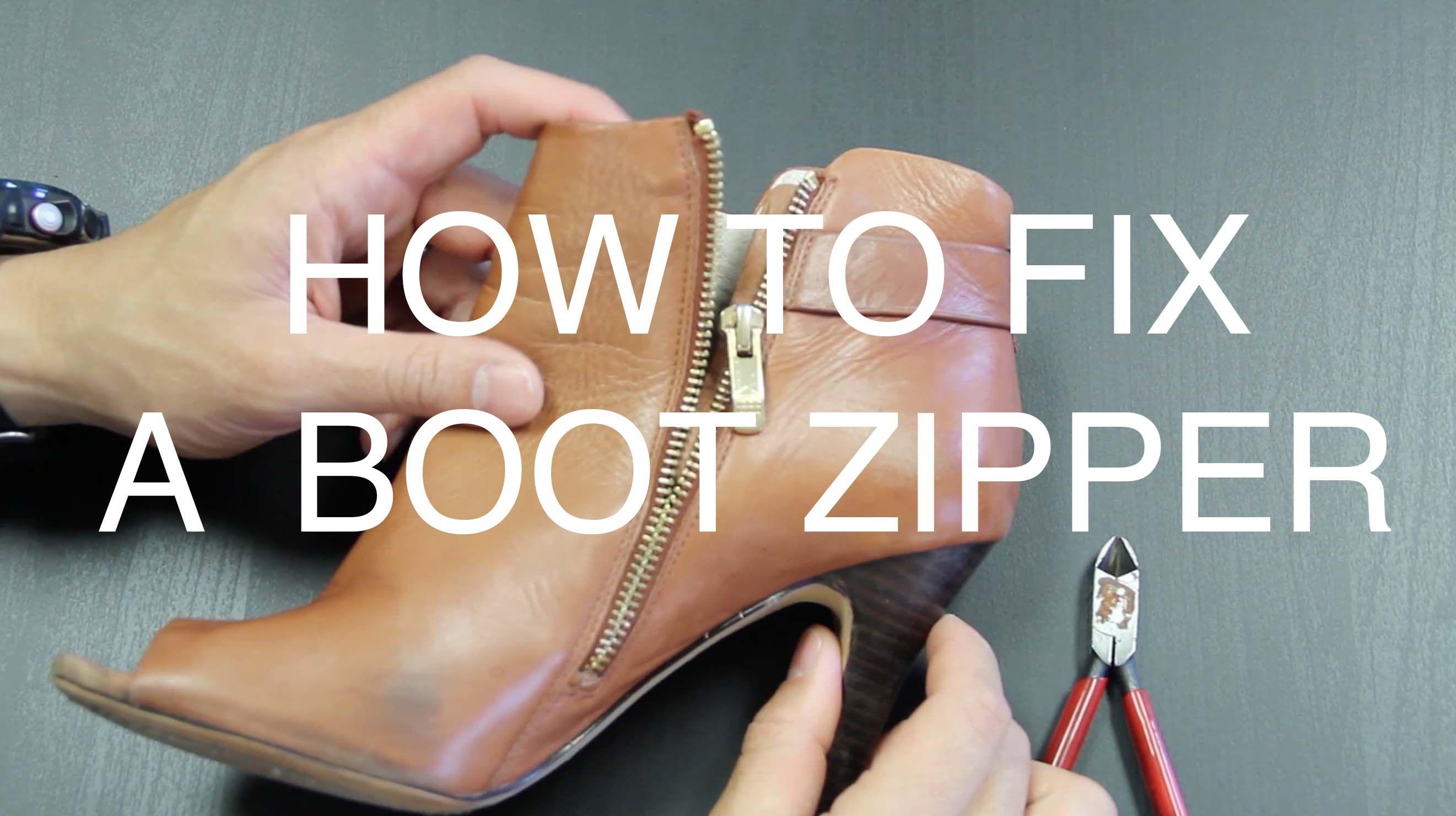 How to fix a boot zipper fix a zipper fix broken zipper