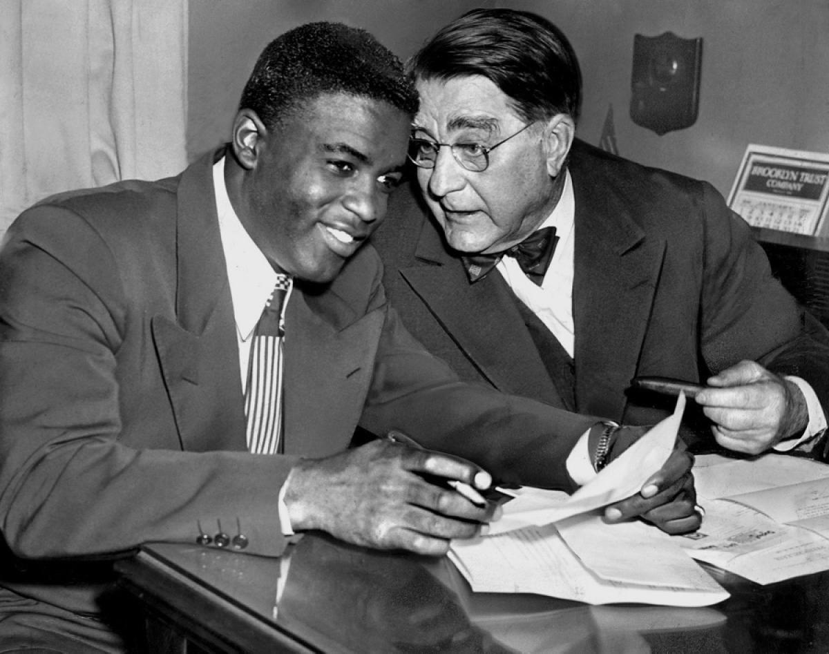 Brooklyn Dodgers Jackie Robinson #1 Photo 8x10