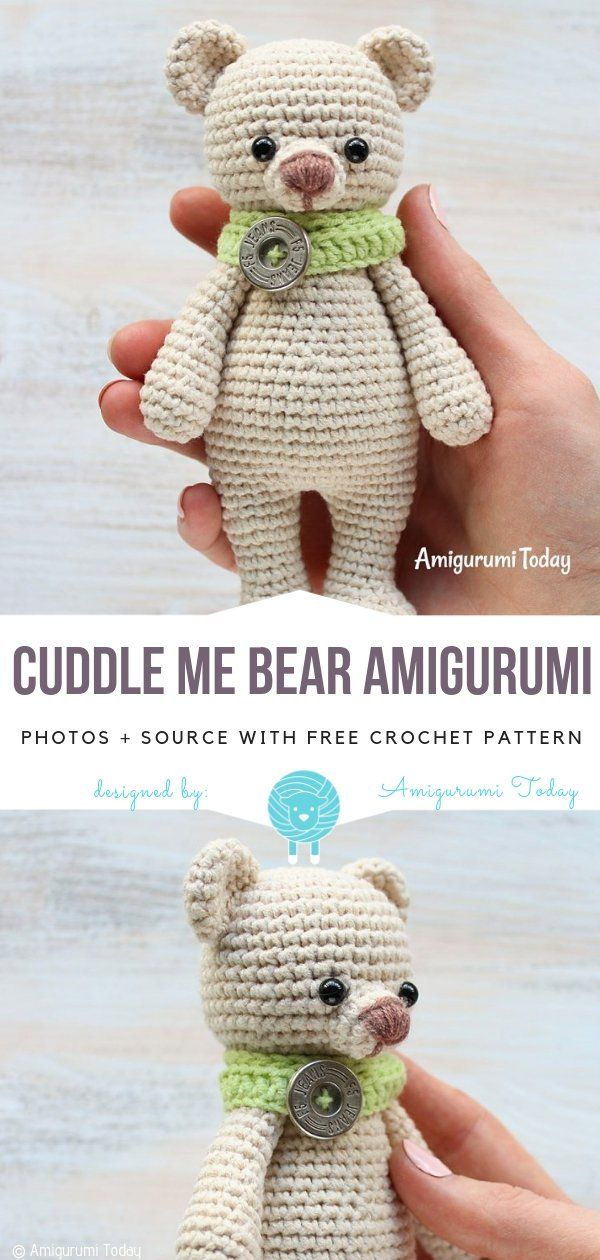 Süße Amigurumi Bären kostenlose Häkelanleitungen #crochetbear