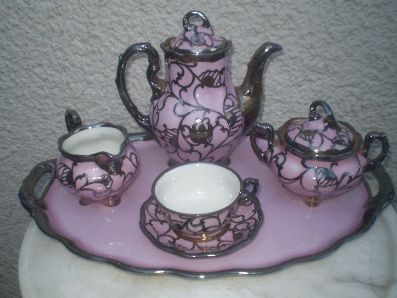 Porcelain with silver overlay Königszelt Silesia Schlesien