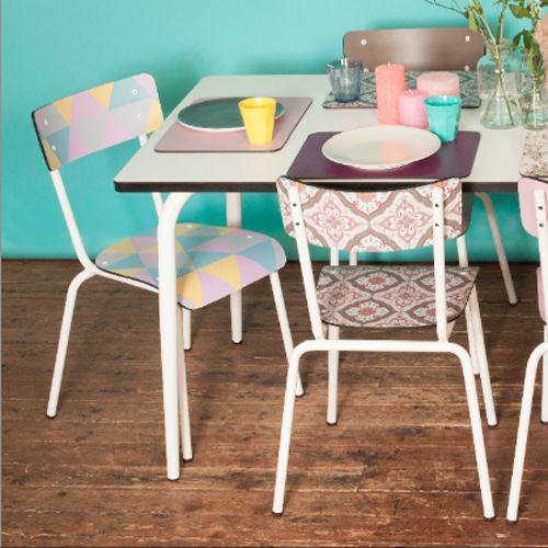 Chaise en formica Suzie Les Gambettes Géométriques Chairs