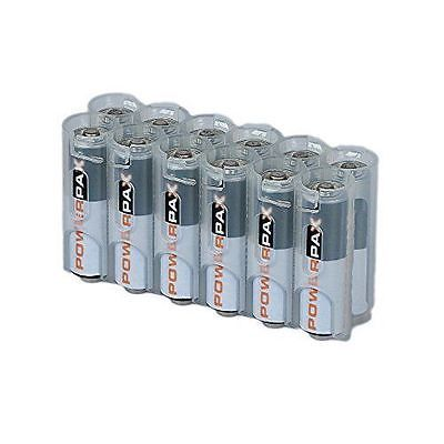 Storacell By Powerpax Aa Battery Caddy Clear Holds 12 Batteries Battery Storage Charger Accessories Aa Batteries