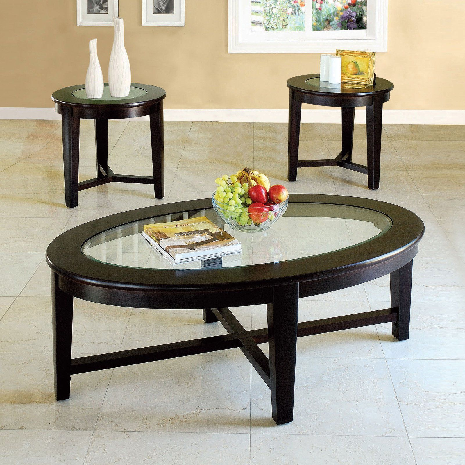 Acme Furniture Kort Coffee And End Table Set 3 Piece Set Coffee Table 3 Piece Coffee Table Set Coffee And End Tables [ 1600 x 1600 Pixel ]
