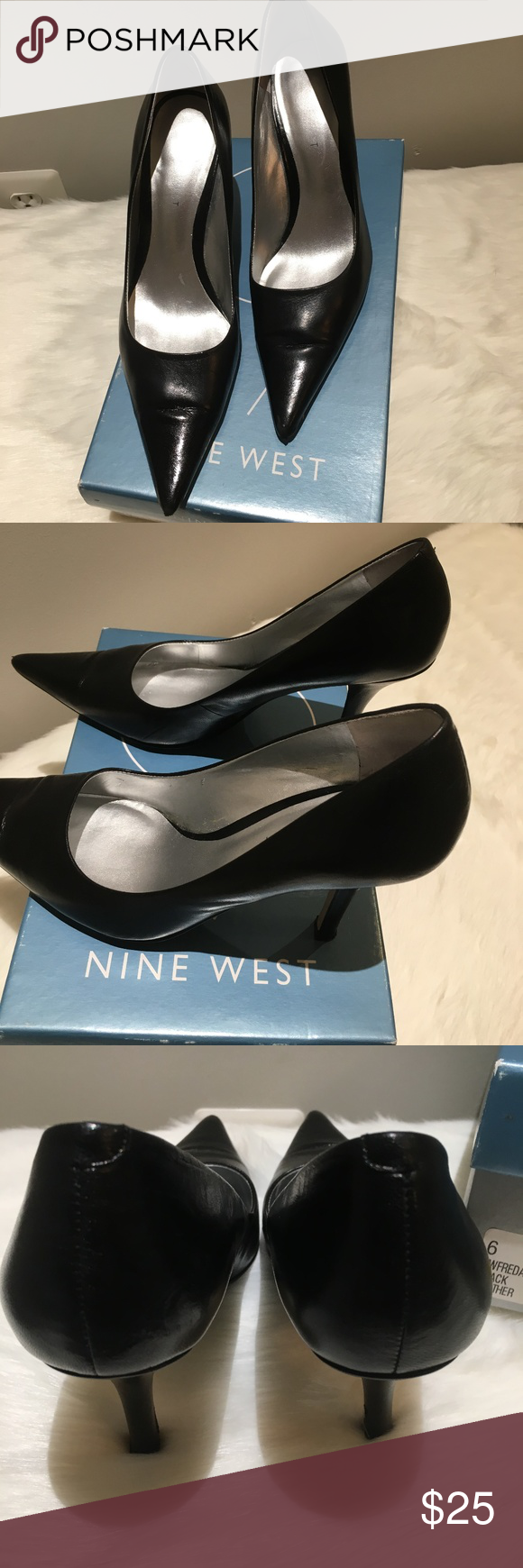 Nine West Black Leather Freda High Heel Pumps Great condition Nine West  Freda Pumps. Beautiful for your work day cba03975f