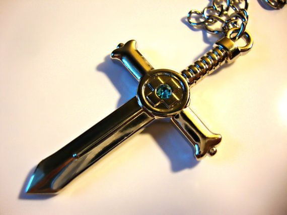 Fairy Tail Anime Gray Fullbuster Sword Necklace