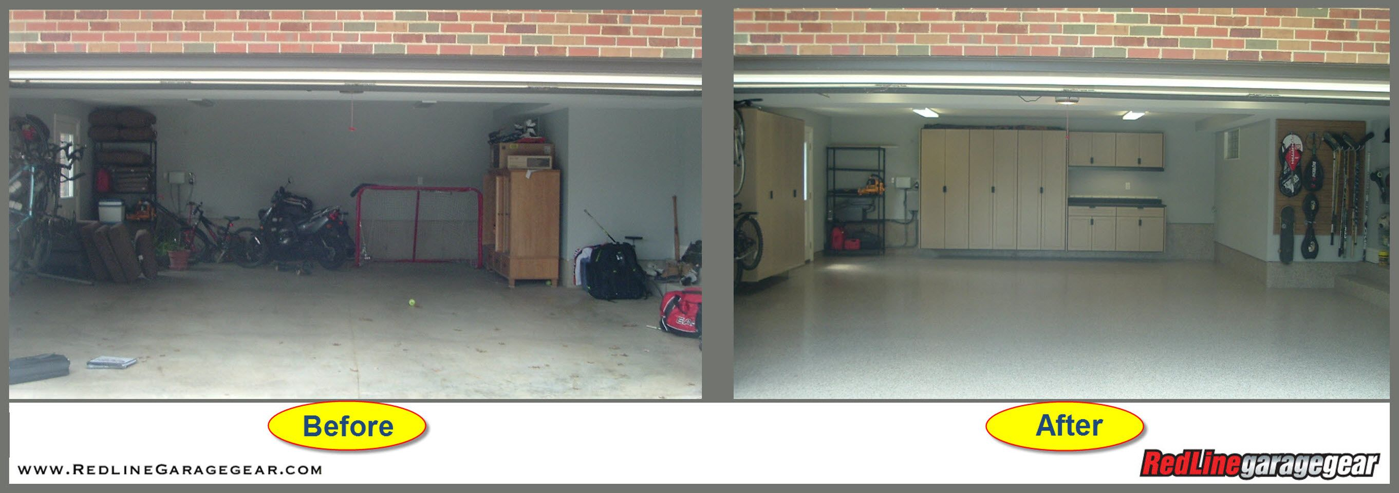 garage decor and more before and after garage cabinets pic 2 - Garage Decor