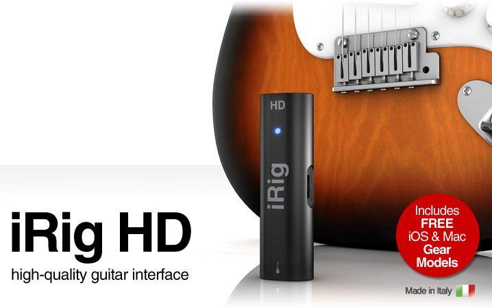 Soitin Laine - IK Multimedia iRig HD - kitara-integface IOS-laitteisiin