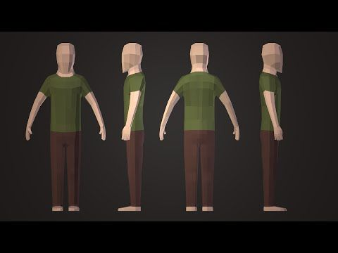 how to build a character in blender
