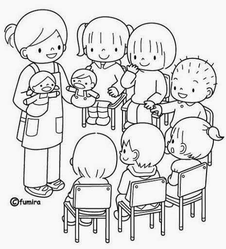 Dibujos Para Colorear Maestra De Infantil Y Primaria El Colegio Dibujos Para Colorear Igual Qu Dibujo De Ninos Jugando Dibujo De Escuela Dibujos Para Ninos