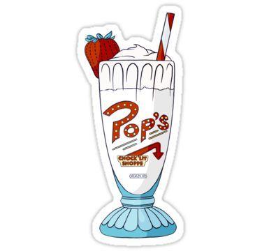 Popâ€s milkshake riverdale vanilla sticker