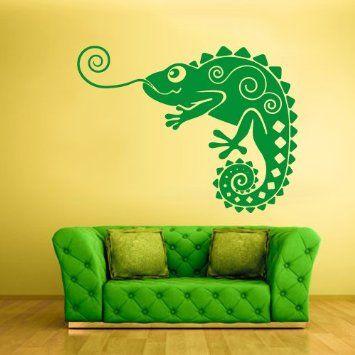 Amazon.com - Wall Vinyl Sticker Decals Decor Iguana Lizard ...