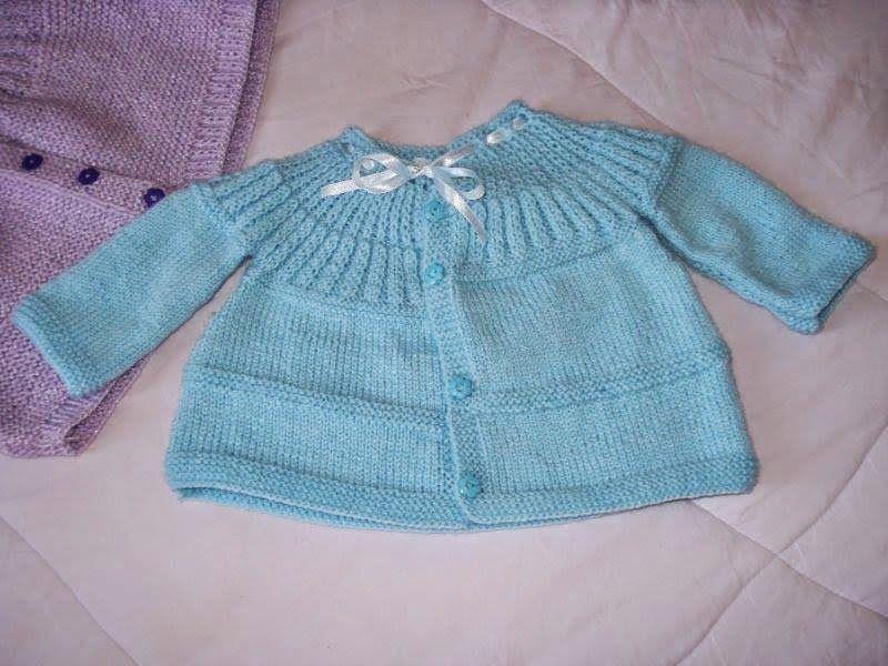 Casaquinho Bebê Tricô | Elo7