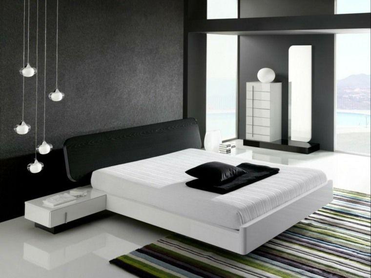 Déco noir et blanc chambre à coucher 25 exemples élégants Pinterest