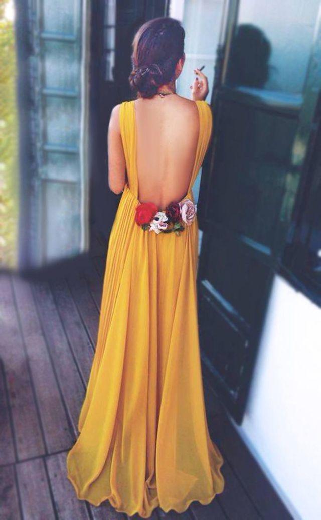 Invitadas elegantes.. y con vestido largo!  e7b75d896b7d