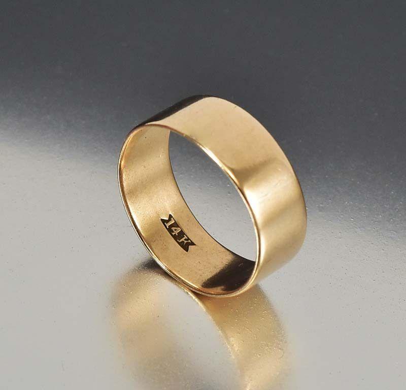 Antique Wide 14k Gold Victorian Wedding Band Ring Gold Wedding Bands Women Wedding Ring Bands Rose Gold Engagement Ring Vintage