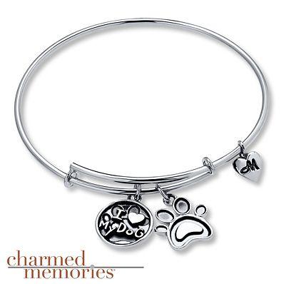 Charmed Memories Love Bangle Bracelet Sterling Silver JBsg2o