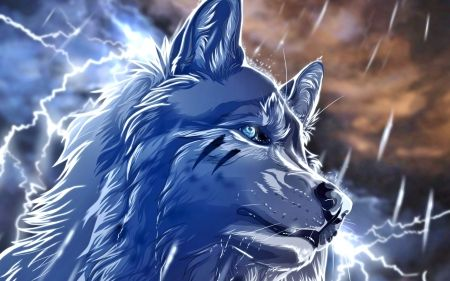 Thunder Wolf Desktop Nexus Wallpapers Wolf Wallpaper Anime Wolf Animal Wallpaper