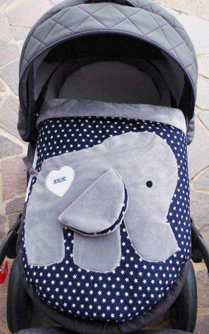 babydecke krabbeldecke elefant dunkelbl wei st f r die kleinen elefant n hen. Black Bedroom Furniture Sets. Home Design Ideas